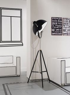 Hollywood Floor lamp - / Tripod - H 183 cm by It's about Romi