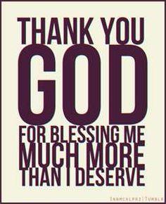 Thank you God!!