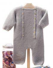 Heft Baby 62 Herbst / Winter   21: Baby Strampler   Grau