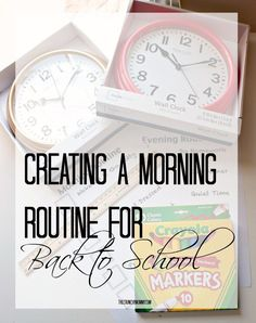 The first day of school is around the corner and mornings can be tough when you've gotten off schedule. Create an easy morning routine now!