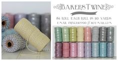 Super cheap bakers twine!! $6/ roll! email prince112200@hotmail.com
