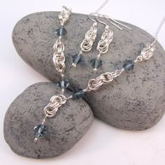 Spiral Chain-mail Necklace. Inspiration photo, no directions. Nice selection of jewelry.