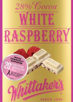 Teenage Wellington entrepreneurs have inspired Whittaker's to launch a new pink-flecked chocolate to help raise funds for breast cancer awareness. White Raspberry, White Chocolate Raspberry, Go Bar, Pink Cocktails, Pink Chocolate, Brain Waves, Cancer Support, Pink Parties