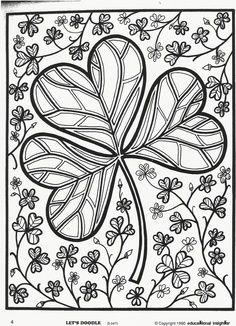 st patrick's day coloring pages | St. Patrick's Day Shamrock Coloring Page. Free Educational Insights ...