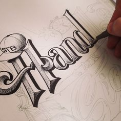 hand-lettered artwork by Carl Fredrik Angell...