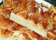 Almás palacsinta tepsiben recept foto Hungarian Recipes, Hungarian Food, Fudge, Allergies, Pancakes, French Toast, Cheesecake, Goodies, Food And Drink