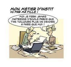 teacher-more homework than students Rage, French Cartoons, French Language, Best Teacher, Homework, Lol, Teaching, Humor, Comics