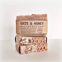 Skin loving ground oatmeal, lovely golden honey and a spicy vein of cinnamon through the middle make for perfect ultra-luxurious morning suds. As with all of our bars, the base oils and butters offer