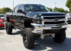 Black Chevy Silverado Lifted