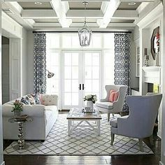 Living room inspiration! Formal and cozy at the same time (Photo by @erin_sunnysideup) #interiordesign #elegant #inspiration #design #decor #homedesign #homedecor #instadesign #instadecor #instafollow #followme #like4like #livingroom #classyandfabulous #classyinteriors