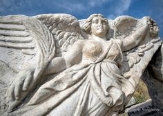 Angel of Ephesus 12 x 8 print Biblical Marble by glennisphotos, $27.00