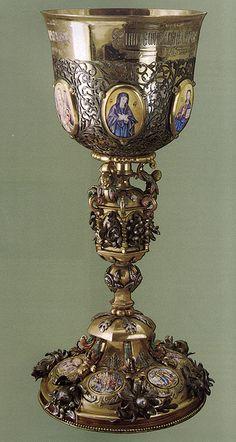 russianEnamels-Потир серебряный. Москва 1704 г.