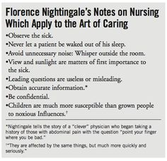 nightingale's environmental nursing theory - Yahoo Image Search Results Nursing Theory, Fundamentals Of Nursing, Florence Nightingale, Sweet Words, Sick, How To Apply, Let It Be, Thoughts