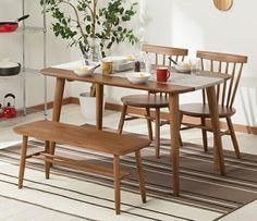丸っこいウィンザーチェアがかわいい ニトリのダイニングセット ナッツ   椅子ラボ Dining Chairs, Dining Table, Furniture, Home Decor, Decoration Home, Room Decor, Dinner Table, Dining Chair, Home Furnishings