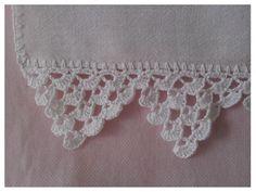 Pano de Prato com barra de crochê feitos pela Dona Aurora!