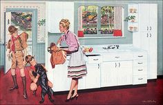 1947 Youngstown Kitchen with Boy Scouts by American Vintage Home, via Flickr