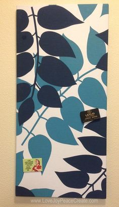 cover ikea magnet board with fabric