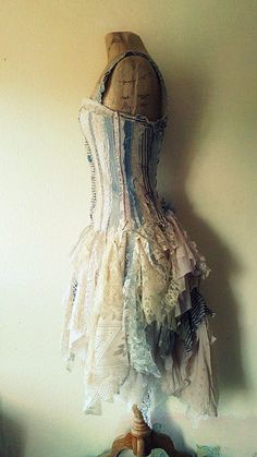 More from the amazing naturally bohemian. gorgeous blue and ivory lace mismatch dress