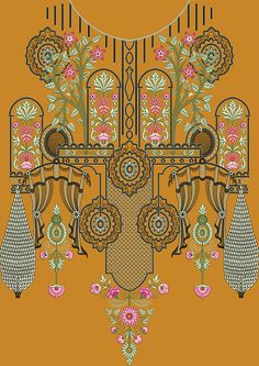 Border Embroidery Designs, Floral Embroidery Patterns, Couture Embroidery, Pattern Design, Print Design, Pattern Art, Design Seeds, Floral Border, Abstract Pattern