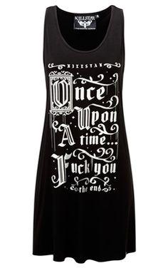 Killstar Gothic Story Time Vest Dress