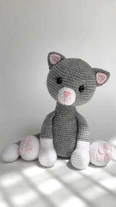 Crochet Cat Pattern, Plush Pattern, Crochet Animal Patterns, Stuffed Animal Patterns, Crochet Patterns Amigurumi, Cute Crochet, Crochet Animals, Softies, Crochet Wedding
