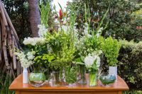 florals/decor - foliage centrepieces.