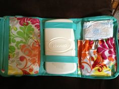 Diaper bag essentials without the whole bag using the Thirty-One Fold-N-Go Organizer. mythirtyone.com/Noelle31