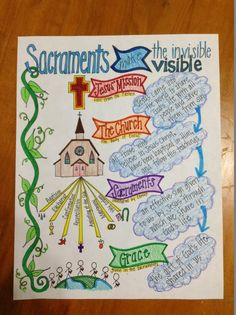 Learning about the Sacraments ... love this for using at home for religious education