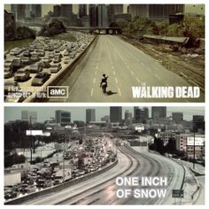 The Walking Dead vs One Inch of Snow