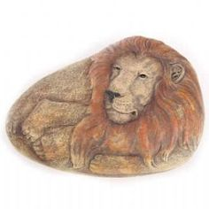Stone-shaped Animal Lion  - Paperweight - Wild Animal Ornament 5055071625770 World Cat Day, Big Cats, Lion Sculpture, Ornament, Statue, Animals, Art, Art Background, Decoration