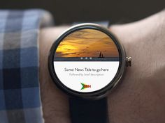 Android Wear UI Designs on Behance