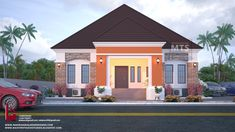 1 new message Architect Design House, Bungalow House Design, House Front Design, Small House Design, Bungalow Designs, Building Design, Building A House, Bungalow Floor Plans, Beautiful House Plans