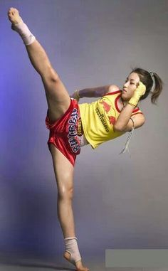 Muay Thai head kick and then some!