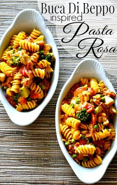 This easy and delicious ONE POT PASTA ROSA is absolutely divine! Jam packed with chicken, sausage and veggies in a cheesy tomato sauce-it's sure to be a hit in your house! #pasta #recipe #copycat