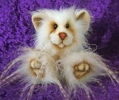 Peppermint a 5 inch Mohair and Faux Fur Artist Mouse Bear on Etsy, $101.00