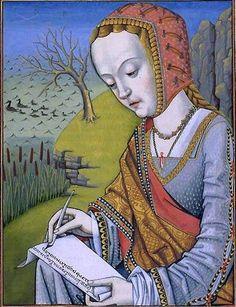 Hypsipylé, first wife of Jason, from Octavien de Saint-Gelais' translation of Ovid's Epistulae heroidum, Cognac, 1496-1498