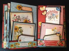 annes papercreations: Graphic 45 Time to Flourish 8 x 5 mini album part 1