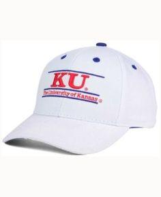 Game Time Kansas Jayhawks Classic Game 3 Bar Cap - White/Navy Adjustable