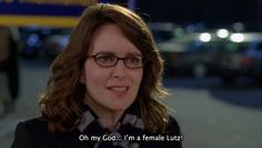 "Liz Lemon (Tina Fey) nell'episodio 6x06/07 (Hey, Baby, What's Wrong) di ""30 Rock""."