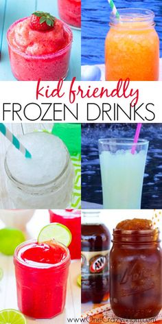 Take a look at these 20 kid friendly frozen drink recipes. Beat the heat with these quick and easy non-alcoholic frozen drinks. They are all so delicious and refreshing! Try these kid friendly frozen drinks. Everyone will enjoy these non alcoholic frozen Drinks Alcoholicas, Easy Alcoholic Drinks, Fancy Drinks, Refreshing Drinks, Yummy Drinks, Beverages, Drink Recipes Nonalcoholic, Frozen Drink Recipes, Frozen Drinks