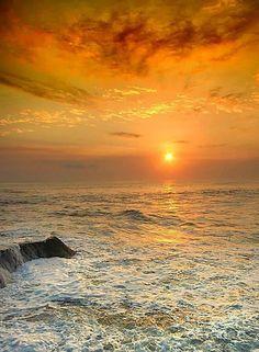 mar,por do sol