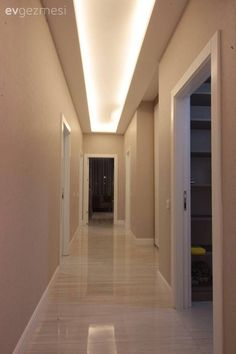 Asma tavan, Hol, Led ışık Cafe Bar, Home Living Room, Garage Doors, Sweet Home, Villa, Stairs, Ceiling, Lighting, Health