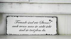 Shabby Vintage Holz Schild STERNE Nostalgie von homestyle-accessoires via dawanda.com