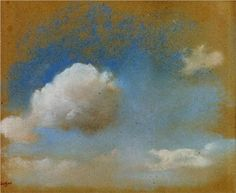Sky Study, c. 1869, pastel, Edgar Degas My next painting project sky,sky,sky and clouds all over the place!!