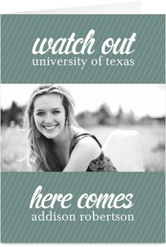 Watch Out Graduation Photo Graduation Card