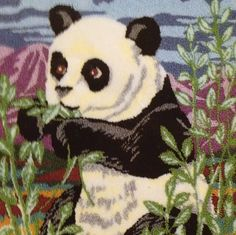 Webster Punch Needle Embroidery Panda Kit Large by WebsterPunch