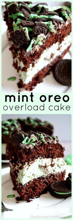 Mint Oreo Overload Cake