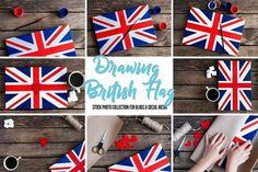 Drawing British Flag.