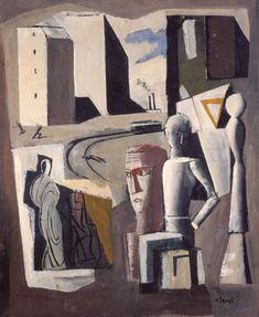 Composizione metafisica by Mario Sironi (Italian 1885-1961)