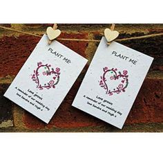 10 Plantable Seeded Card Favours or Tags £1.22